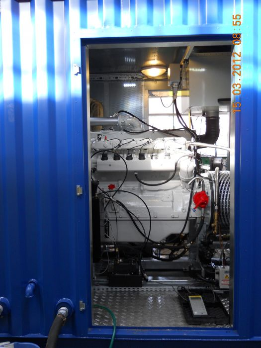 Container design of 200kW biogas unit.
